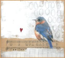 inner lifeBlue Journals Art, Bluebirds, Art Birds, Mixed Media, Blue Birds Art, Collage, Vintage Birds Art, Blue Art Journals, Music Art Journals