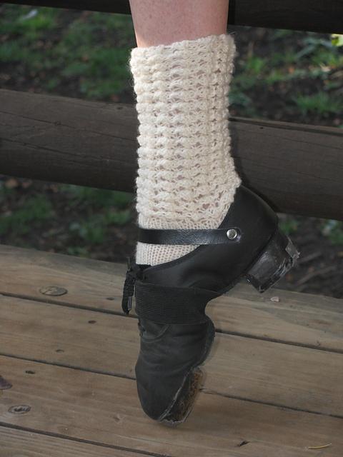 Irish dance socks and hard shoes