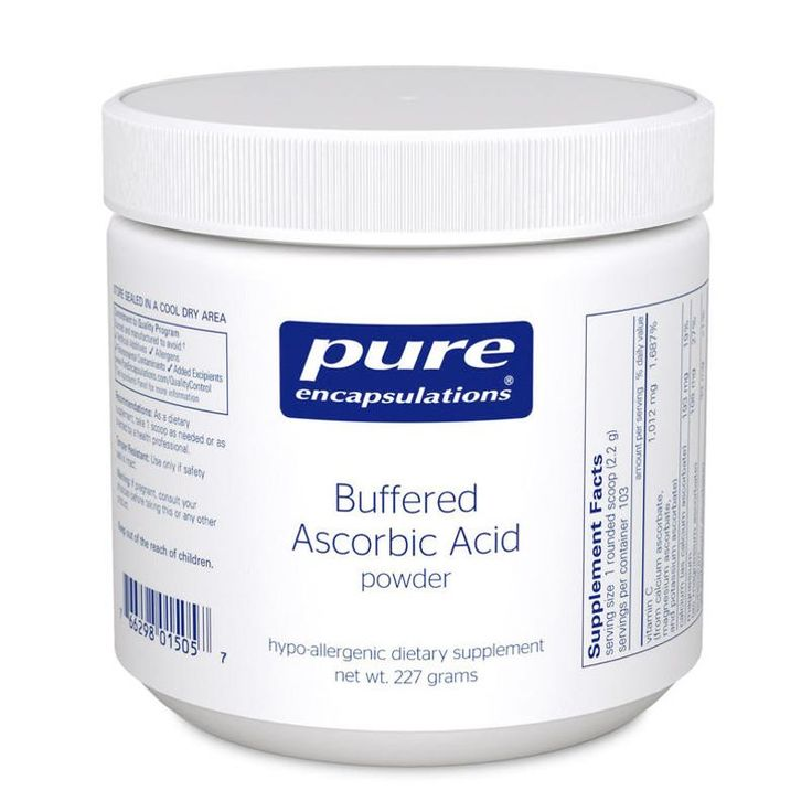 "Buffered Ascorbic Acid Powder. Myer treatments are great, but I am so deficient (common with RSD/CRPS patients). Daily intake of higher doses is what I am needing. My Myers are 25g x2/wk. The day after the Myers, I needed 17g to get my ""C-Flush"". My nurse who does my Myers was shocked as I was as the amt I needed just one day later)."