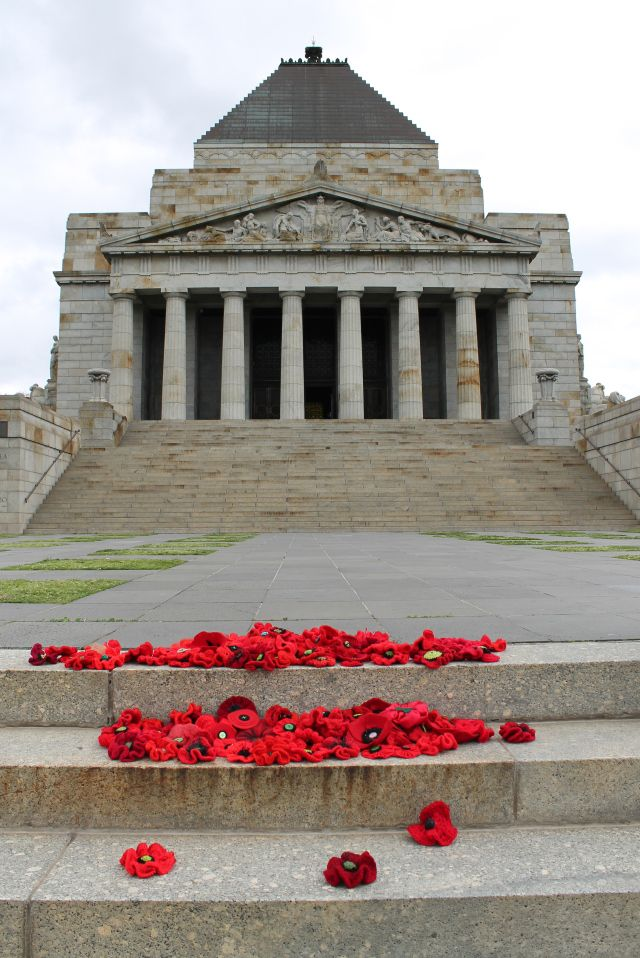 Poppies at the Shrine of Remembrance Melbourne