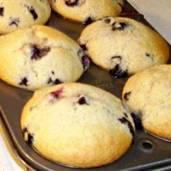 Blueberry Cream Cheese Muffins  http://www.stockpilingmoms.com/2009/12/blueberry-cream-cheese-muffins/