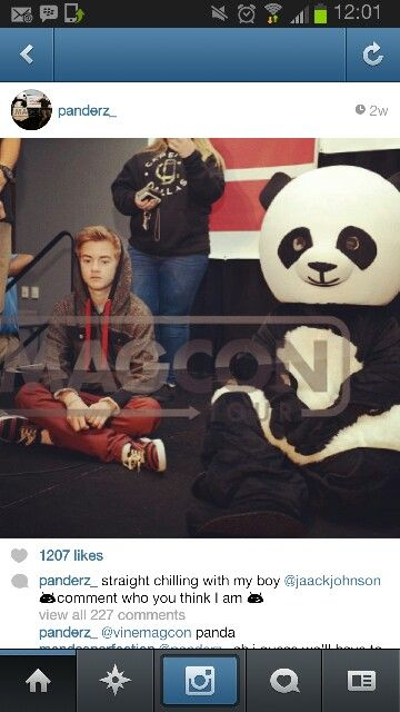 Awwww Jack Johnson magcon<<<But seriously who is the Panda i need to know
