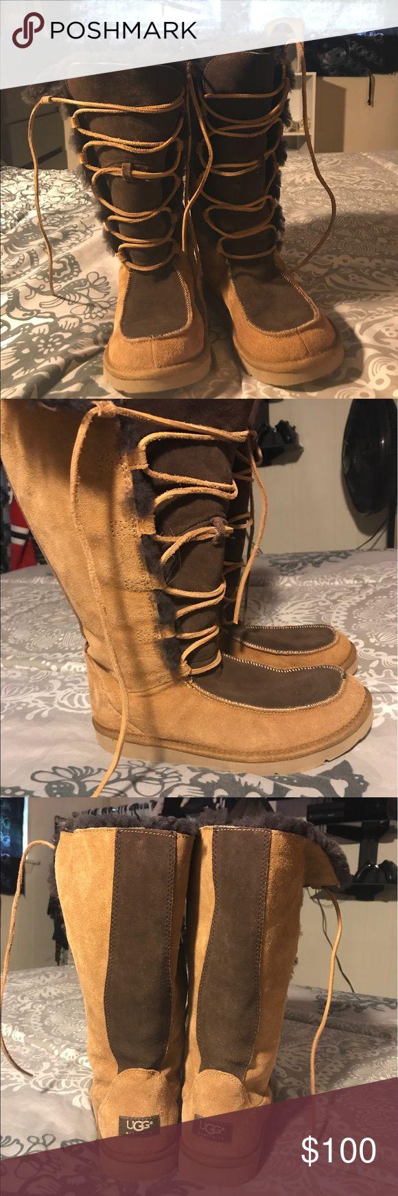 Selling this Lace up Uggs on Poshmark! My username is: mandaaaapandaaa. #shopmycloset #poshmark #fashion #shopping #style #forsale #UGG #Shoes