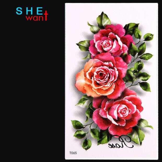 卸売女性の一時タトゥーステッカー青牡丹の花椿セックス製品花人格卸売