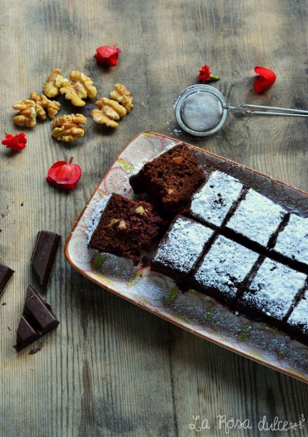 Brownie exprés en microondas, sin lactosa y sin gluten