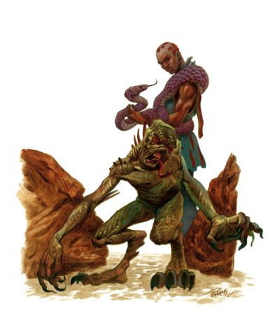 To be initiated as a member of the Yuan-Ti, a yuan-ti cultist must infuse some of his blood into him. For some, this unlocks the psionic potential to become a Tainted One. For others, the process causes them to regress into beings known as Histachii, or Broodguards