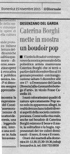 Articolo sul Boudoir Contemporaneo di Caterina Borghi a Desenzano del Garda