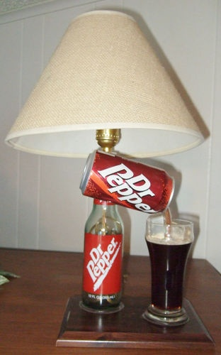 Dr Pepper Lamp : Dr pepper lamp original custom made dublin