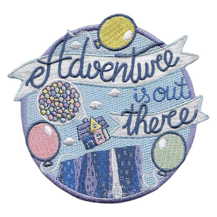 Adventure Is Out There Up Patch By La Barbuda In 2021 Disney Patches Embroidered Patches Disney Iron On Patches