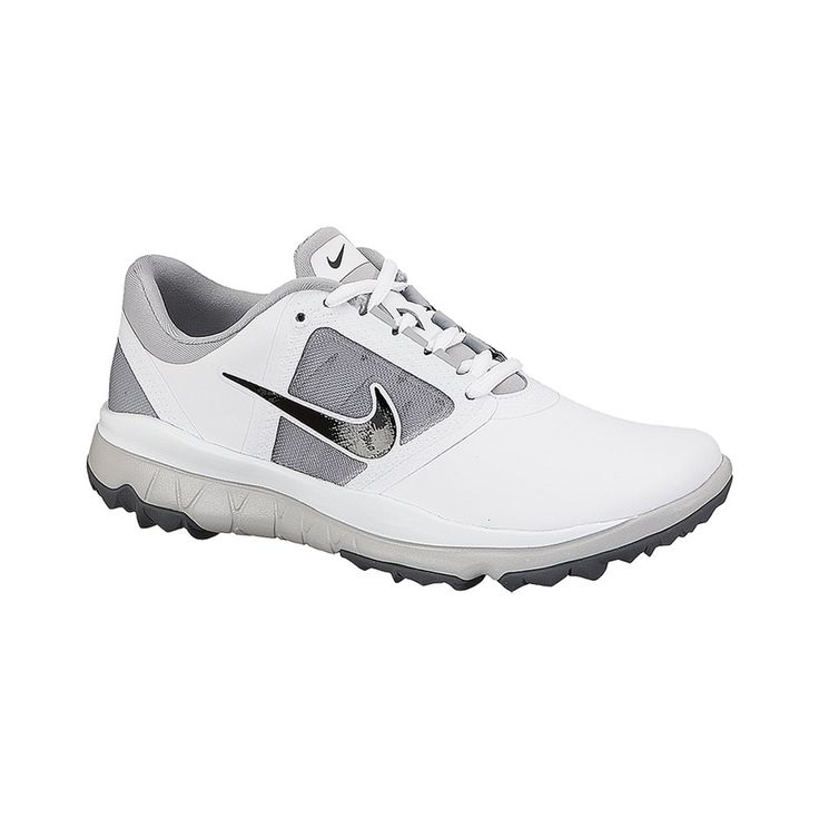 Developed with insights from elite golfers, the Nike FI Impact women's golf shoe features a flexible Nike Free-Inspired outsole to unleash the full power of your swing. The Nike Free-Inspired outsole