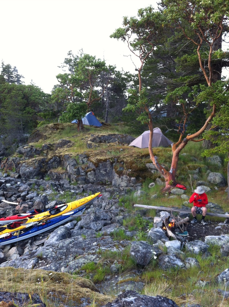 Great trip coming back from the Discovery Island. Remote camping area Read Island.