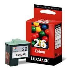 Cartucho Lexmark  Cartucho Lexmark 10N1126 Cartucho Original Lexmark Color Modelo: 10N1126  Producto tricolor compatible con las impresoras modelo: Printerjet z13 � � z23 � � z25 z33 � � z35 � � z647 z605 � x1150 � x3633  Multifuncionales x75 � � x1150 � x1185 x1270 � x2250