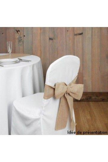 Noeud de chaise en toile de jute - Lucy Jeanne Collection - Décoration de Mariage