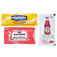 Condiment packets are essential items for your take-out restaurant, concession stand, diner, or cafe. Quickly throw these packets into take-out bags for customers to dress their hot sandwiches, entrees, and sides. You can also set out bins filled wit
