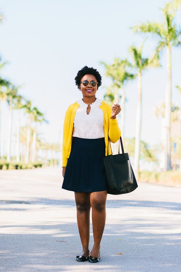 How to wear a yellow cardigan? Preppy Work Outfit – #cardigan #outfit #preppy #w…