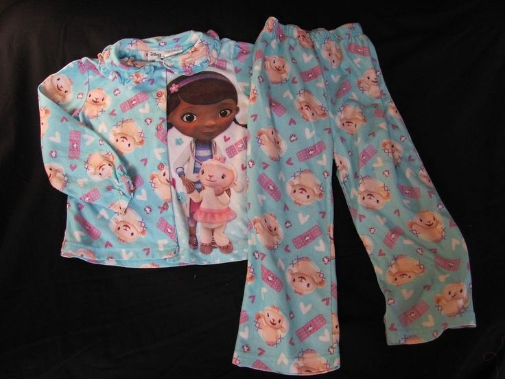Disney Blue White Purple Doc McStuffins Lambie 2 Piece Sleeper 5T #Disney #TwoPiece
