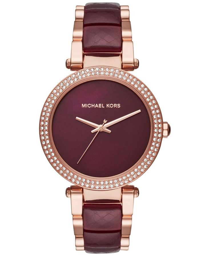Michael Kors Women's Parker Two-Tone Stainless Steel and Acetate Bracelet Watch 39mm MK6412
