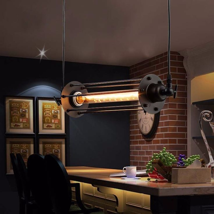 Vintage Retro Industrial Flauta Lampara Colgante Cocina Bar La luz de Techo TJ07