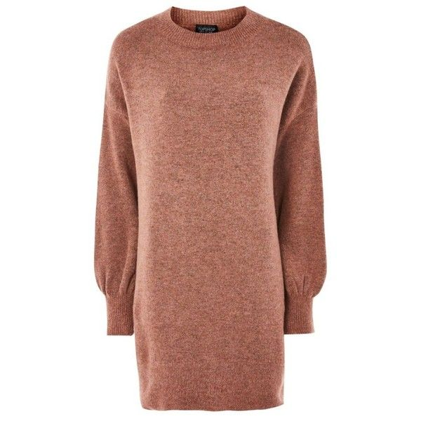 Women's Topshop Sweater Dress ($75) ❤ liked on Polyvore featuring dresses, slouchy dress, topshop dresses, beige dress, oversized dress and slouch dress
