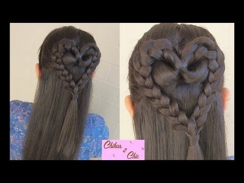 Peinado de niña corazón. Fácil. Lindo. Video tutorial en español.  ♧♧♧