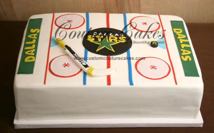 hockey rink cake -  great idea.  Thinking of the boys end of season party.
