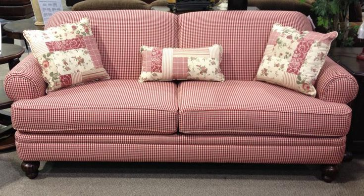 Country Plaid Sofa and Loveseat | Features Specifications Also Available