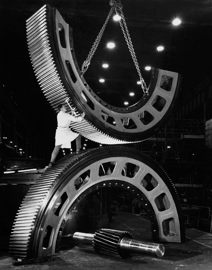 Gears for Mining Industry     photo by Wolfgang Sievers, 1967