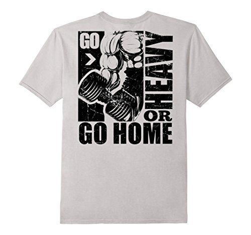 Men's Go Heavy Or Go Home T-Shirt | Bodybuilding T-Shirt Small Silver Gym T Shirts http://www.amazon.com/dp/B01D59B5MO/ref=cm_sw_r_pi_dp_bh6axb0G829P3