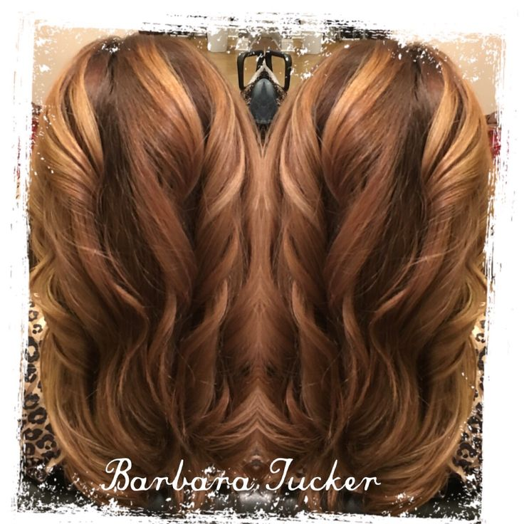 Caramel Mocha swirl! Warm brown base hair with balayage  prices to frame face and baby lights fading up.