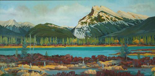 """WJ Bradley RUNDLE, EVENING SHADOWS / Canada House Gallery - oil, board 24"""" x 48"""""""