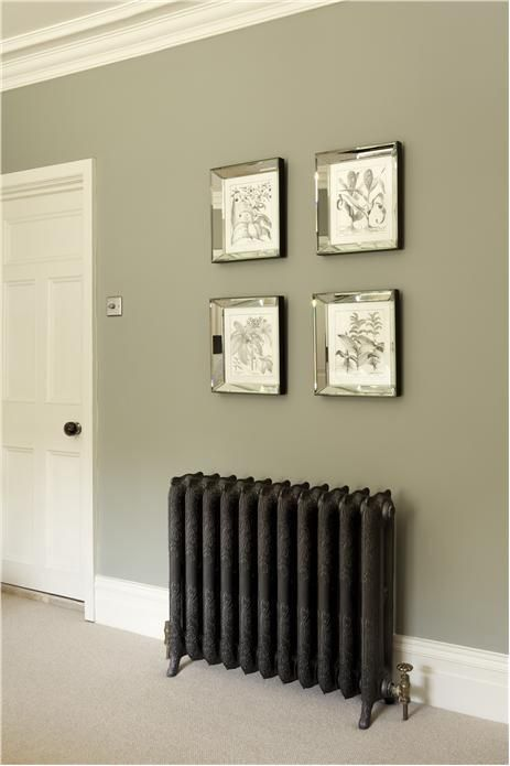Cast iron radiators together with Farrow & Ball colours, a marriage made in heaven. Simply Radiators can help you with both.