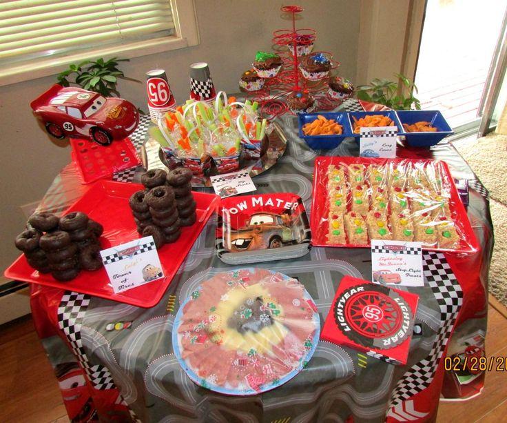 Disney Cars Party Ideas Food Table