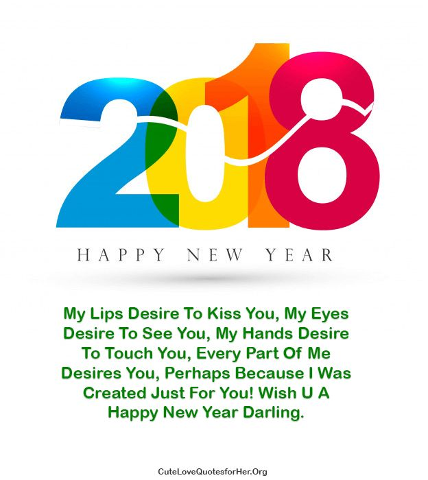 Cool New Year 2018 Love Quote For Her