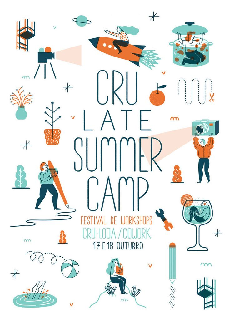 Poster and Leaflet for the Workshop Festival at Cru Loja Cowork, in October 2015.