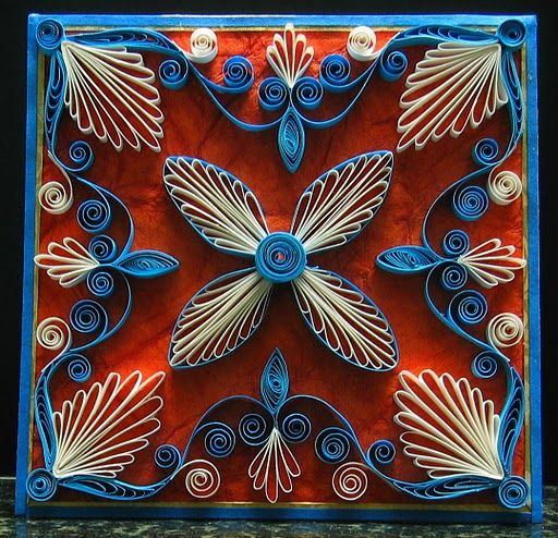Lovely paper quilling from Suganthi, at http://papercraftss.blogspot.com/.
