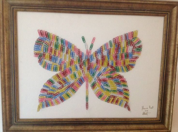 Butterfly made from paperclips