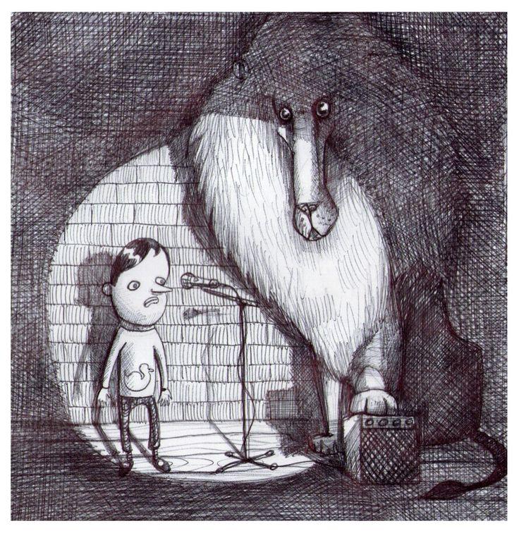 'The Gig'. Illustration by Chris Harrendence