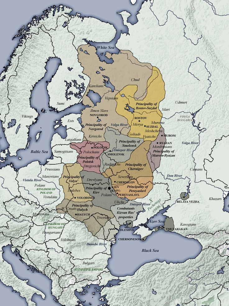 Principalities of Kievan Rus' [...I will have to fine the date(s) for this one...] Maps on the Web: Photo
