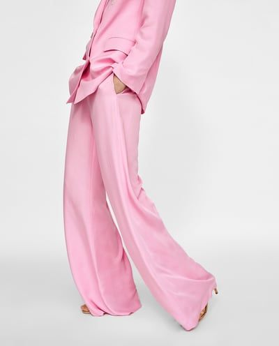 e28d5d20 COLOURED WIDE-LEG TROUSERS : Zara | up my alley | Colored pants ...