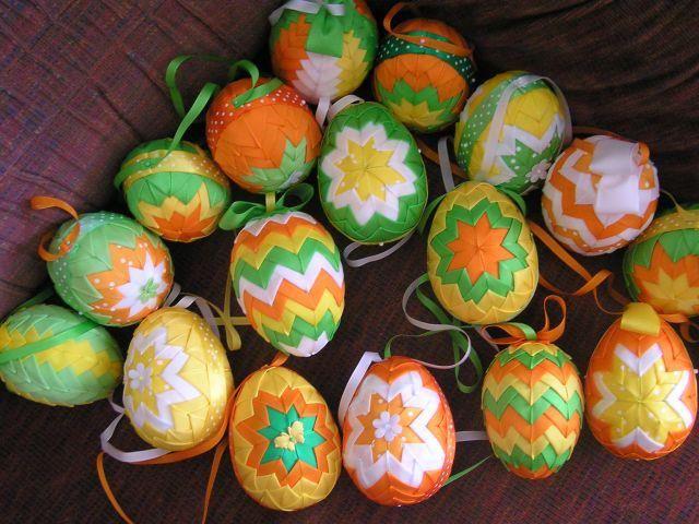 Veľkonočné vajíčka - falošný patchwork