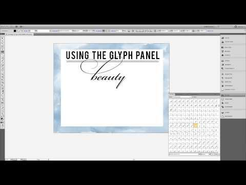 Using the glyph panel in Ilustrator from jonesdesigncompany blog.