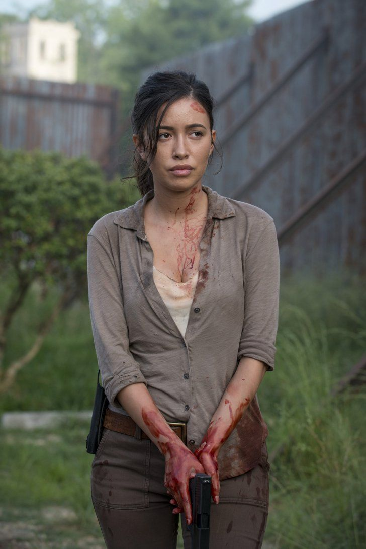 Pin for Later: The Walking Dead Cast Actually Looks Pretty Fresh Without the Blood and Grime Christian Serratos as Rosita