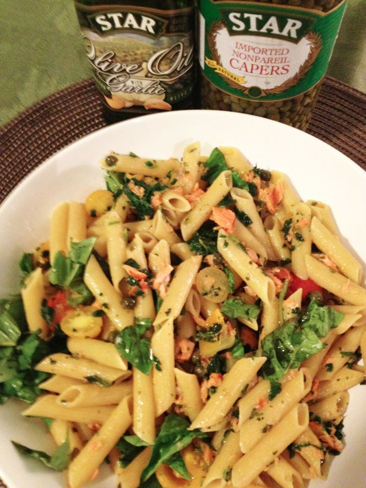 Smoked Salmon Pasta with Capers
