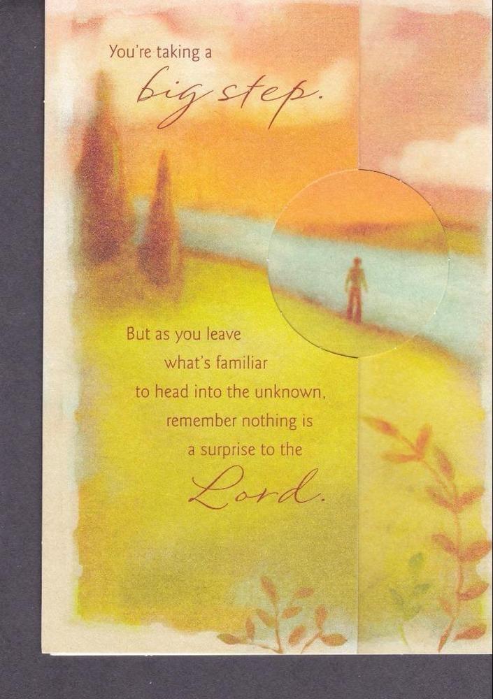Christian Greeting Card, Goodbye, New Endeavors #DaySprng #Goodbye