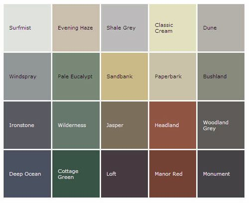 8 best images about house colours on pinterest garden statues grey and bricks for Colorbond colour schemes exterior