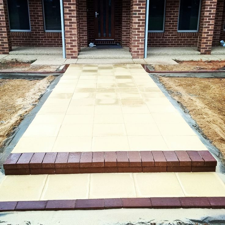 Paved Front entry path by Keystone Landscapes Wagga