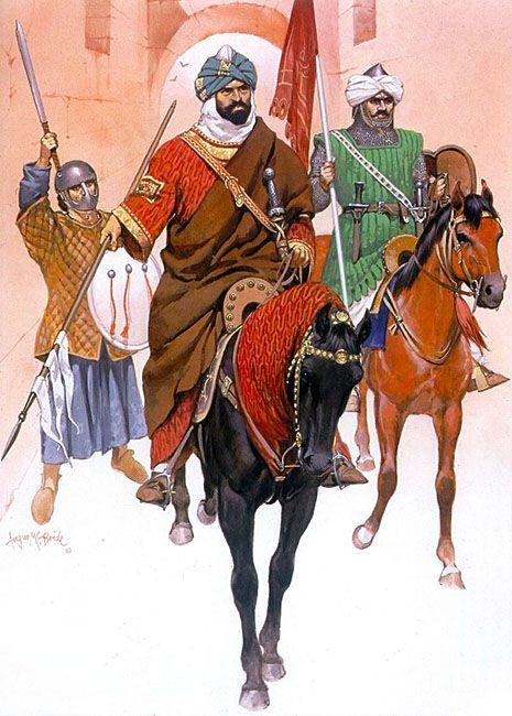 The Muwahhidun, 12th-early 13th century: • Andalusian infantryman, late 12th century  • Muwahhid prince, early 13th century  • Muwahhid guard cavalryman, late 12th century