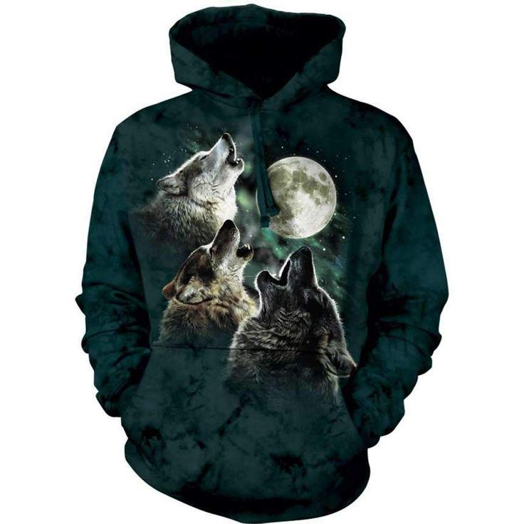 3D Prints Three Wolf Moon Classic Hoodie