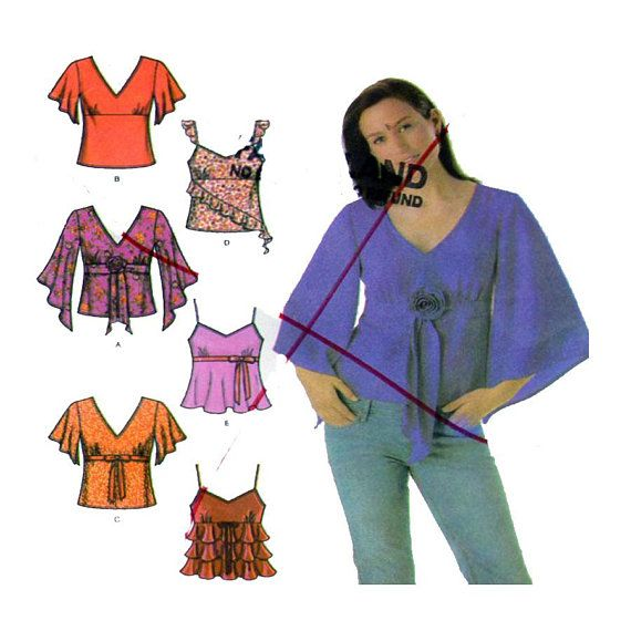 Simplicity 4958 Women Tunic Top Sewing Pattern V Neck