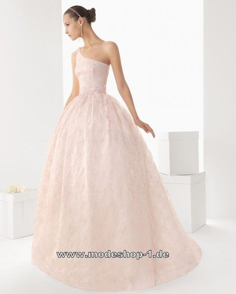 Diana Träger Hochzeitskleid Brautkleid in Zart Rosa | Brautkleider ...
